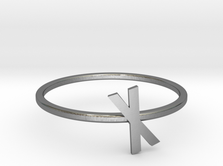 Letter X Ring 3d printed