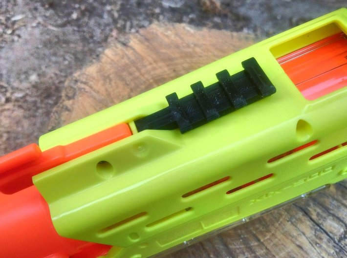 Front Top Rival Rail for Nerf Mercury XIX-500 3d printed