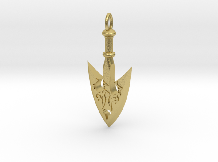 Jojo Arrow Pendant Vr7ufjejd By Sampo 1990 Golden wind i wanted to model something from the show but also was itching to work on another borderlands style prop. jojo arrow pendant