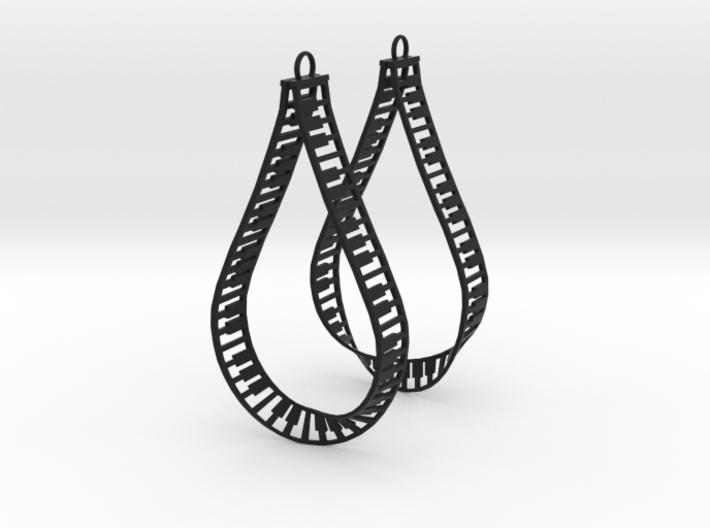 teardrop piano frame earrings 3d printed