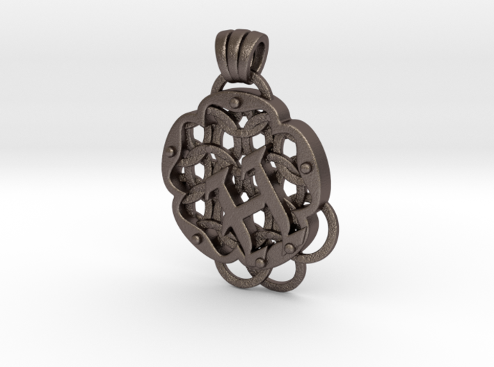Chain Mail Pendant H 3d printed