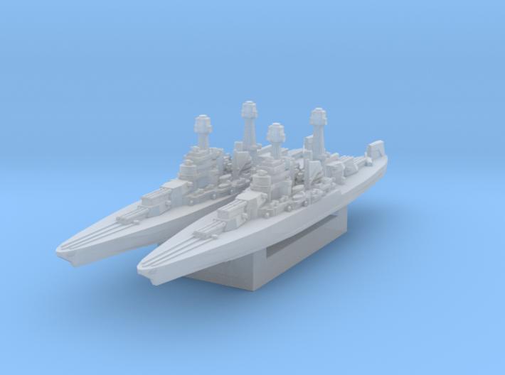 USS California (Axis & Allies) 3d printed