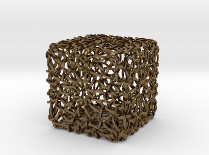 Islamic Woven Cube  3d printed