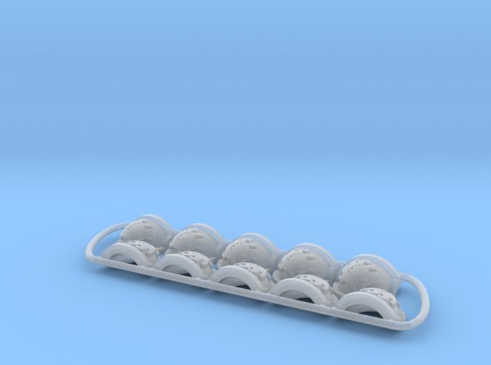 Ravenous ptrn Shoulder Pads: Celestial Felines 3d printed