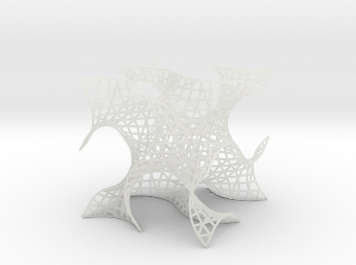 Gyroid Mesh, single cell 3d printed