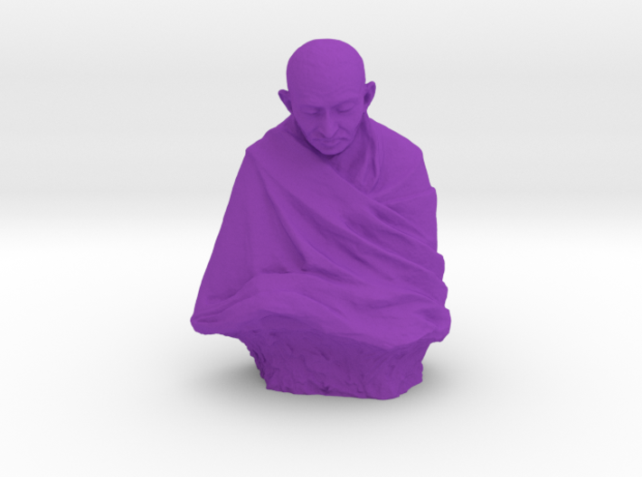 Gandhi by Claire Sheridan 3d printed
