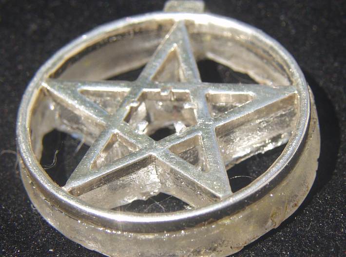 Light up pentacle necklace (back) 3d printed You can see the clear back now glued to the front