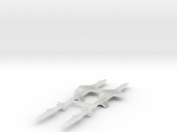 1/700 Experimental Aircraft Set 5 3d printed