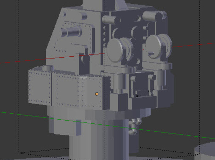 Early Mk 19 Fire Control Director & Range Finders  3d printed Mk 19 Fire Control Director