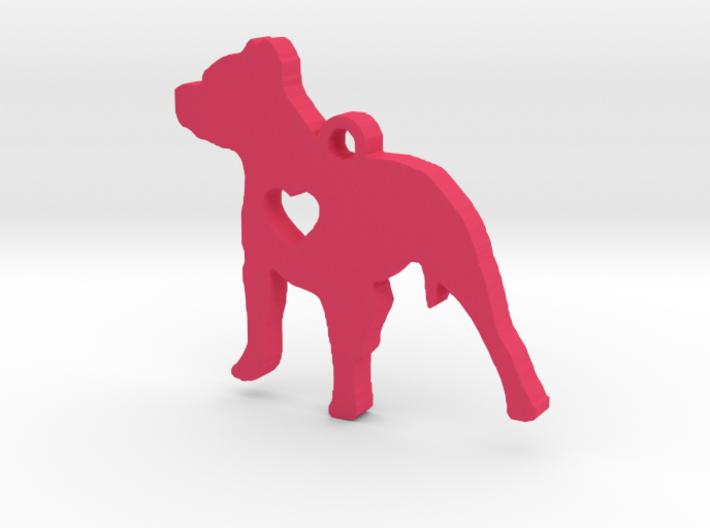 Pittie Love Earring 3d printed