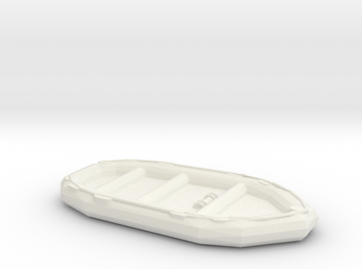 1/72 Scale 10 Person Inflatable Landing Boat 3d printed