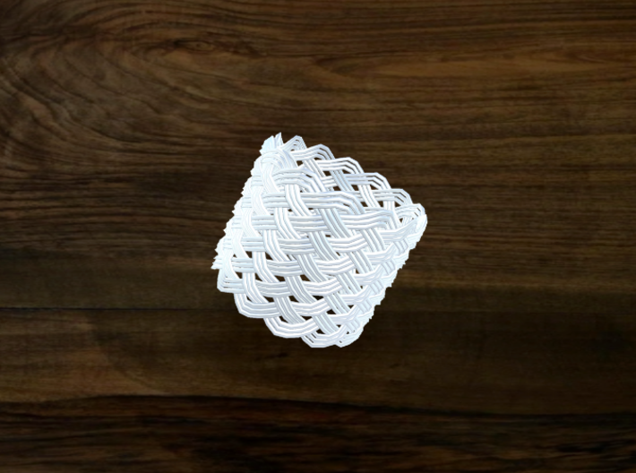 Turk's Head Knot Ring 12 Part X 14 Bight - Size 20 3d printed