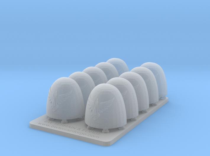 Bran Del Sangre V6 Smooth Shoulder Pads 3d printed
