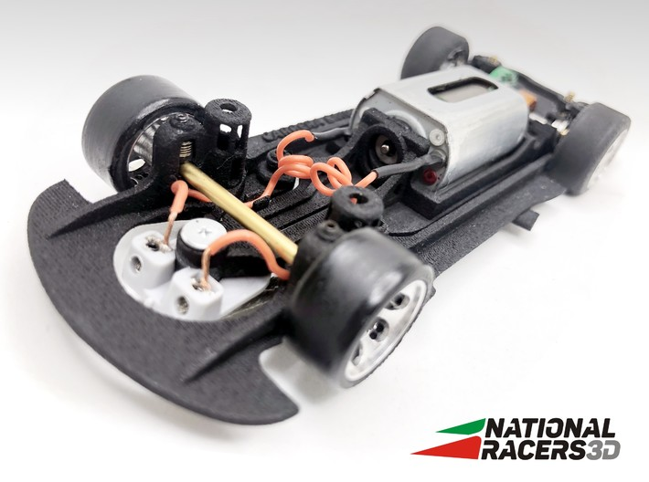3D Chassis - Carrera BM 2002 (All-in-One - Inline) 3d printed