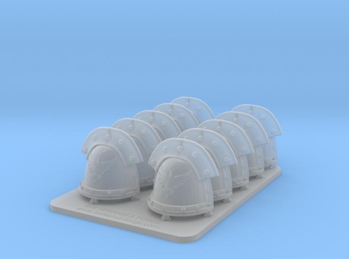 Bran Del Sangre v3 Iron Style Shoulder Pads 3d printed