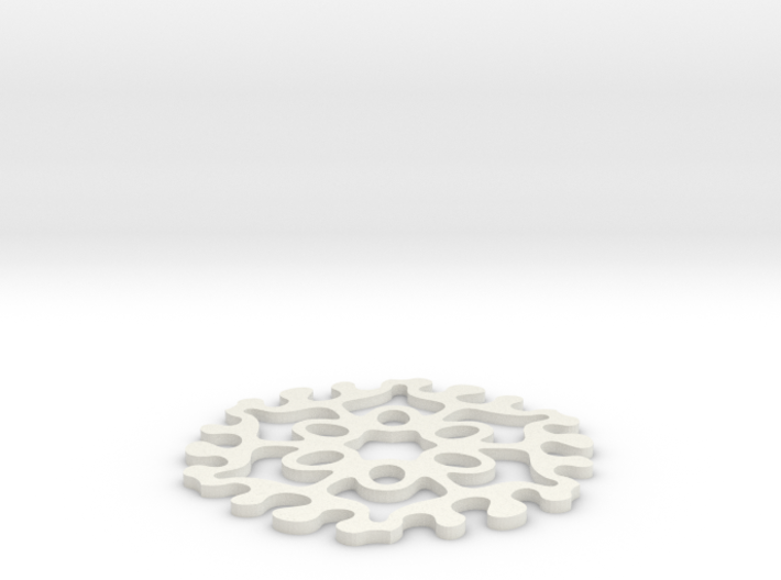 Drink Coaster - Interlocking - Ovals Pattern 3d printed