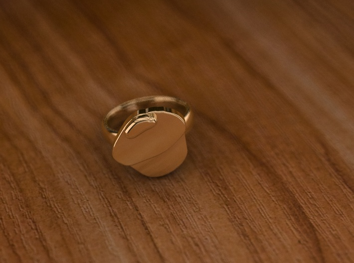 Pikabu Classical Ring 14k gold 6.5size 3d printed