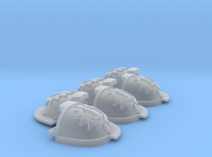Grievous ptrn Shoulder Pads: Iron Lions 3d printed