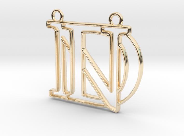 D&N Monogram Pendant 3d printed