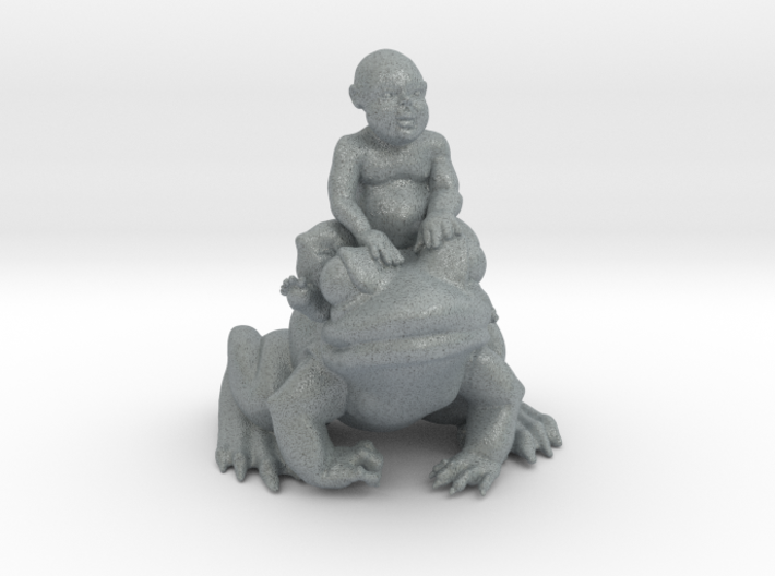 Putti On Frog 3 Inches Tall 3d printed