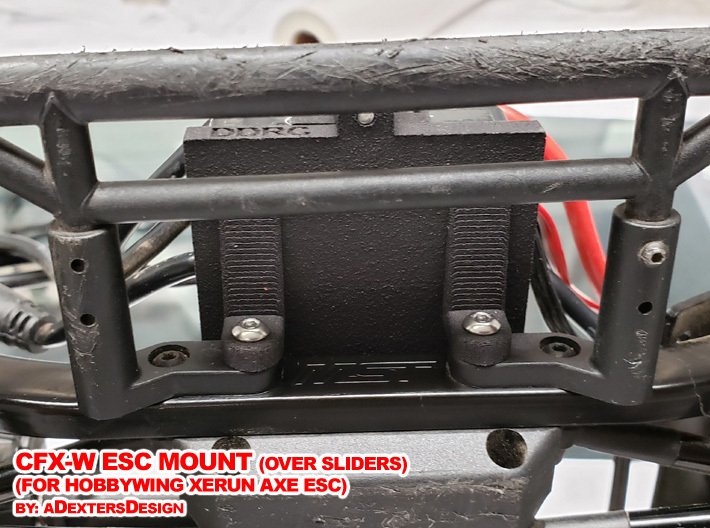 CFX-W ESC MOUNT for Hobbywing Xerun AXE  3d printed Simple Installation to the Chassis