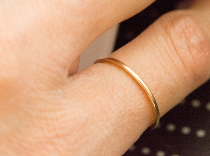 Minimalist Single Band Ring Size 6 3d printed