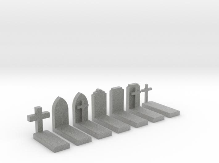 N Scale Cemetery Graves Graveyard 1:160 3d printed