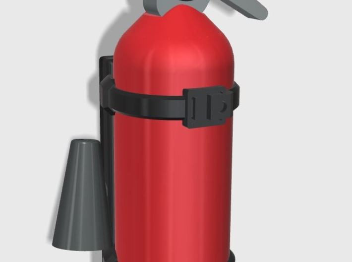 Scale Fire Extinguisher 1:10 3d printed Example