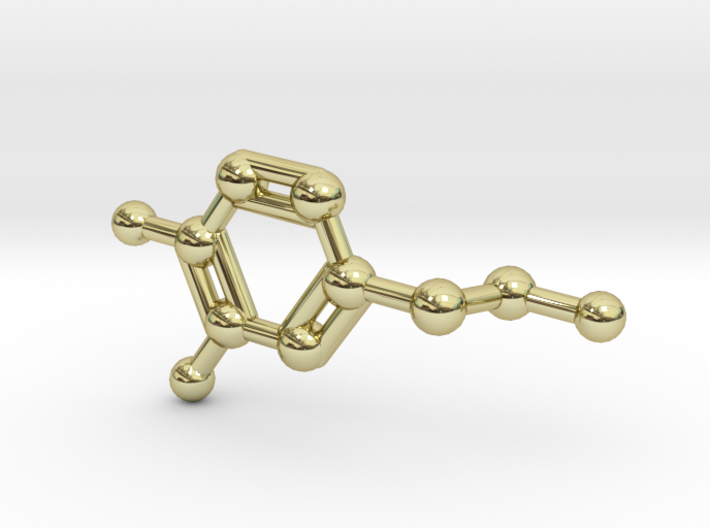 Dopamine Molecule Necklace 3d printed