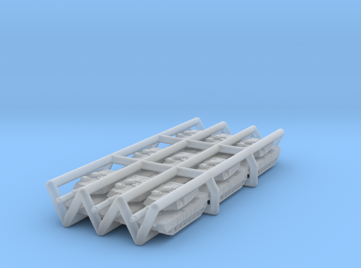Abrams M1A1 MBT SET OF 9  in 1:500 scale. 3d printed