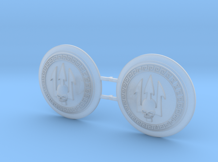 Neptune Spears - Round Power Shields (L&R) 3d printed