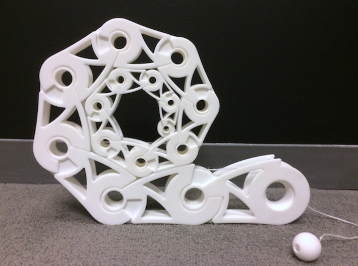 Roll-up Spiral 15-Segment 3d printed