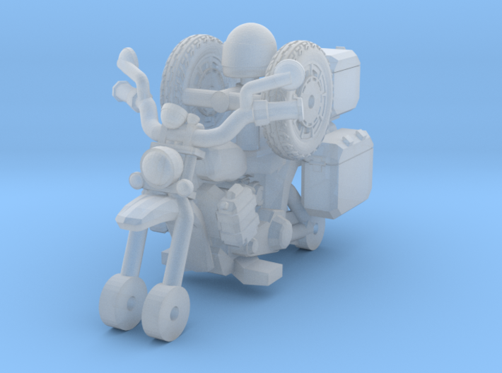 1-87 Scale Junkyard Touring Motorcycle 3d printed