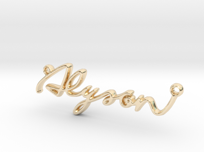 Alyson First Name Pendant 3d printed