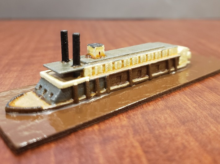 1/600 USS Rattler 3d printed Painted by David Wallace Kent