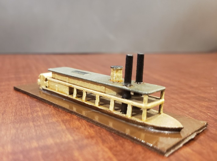 1/600 Transport Steamer Lookout 3d printed Painted by David Wallace Kent