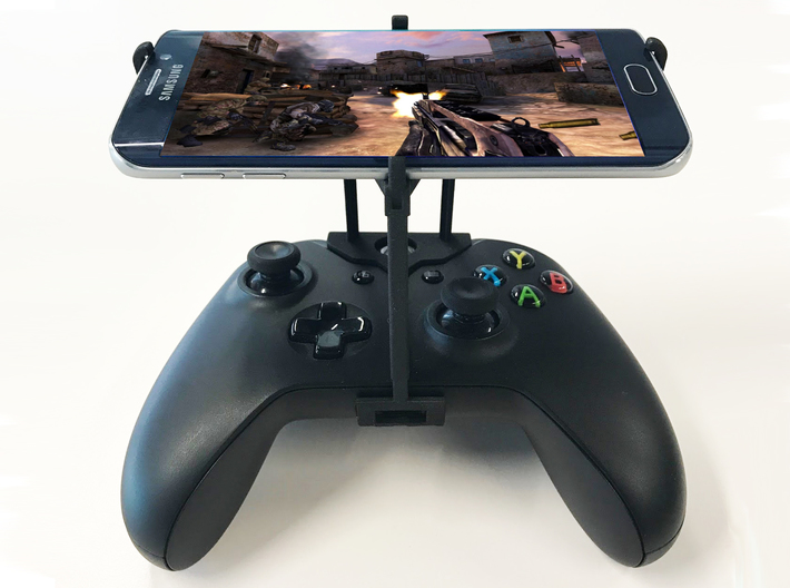 Xbox One S controller & Motorola One Macro - Over  3d printed Xbox One S UtorCase - Over the top - Front