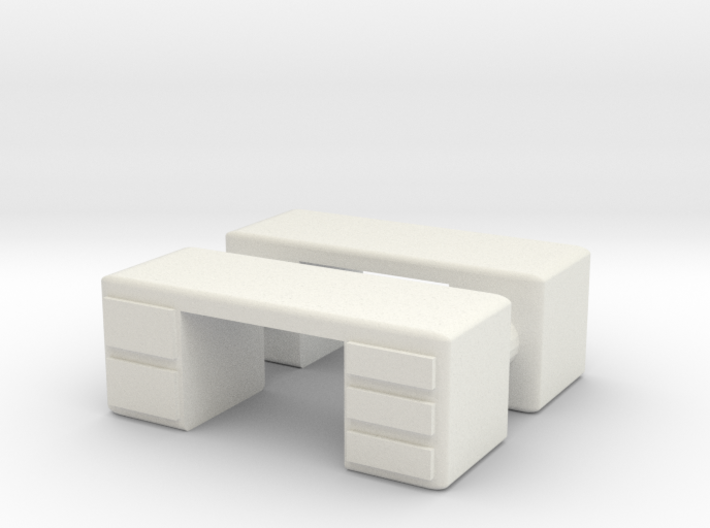 Office Desk (x2) 1/100 3d printed