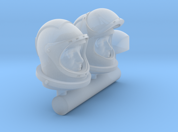 SPACE 2999 1/48 ASTRONAUT HELMET WITH FACE 3d printed