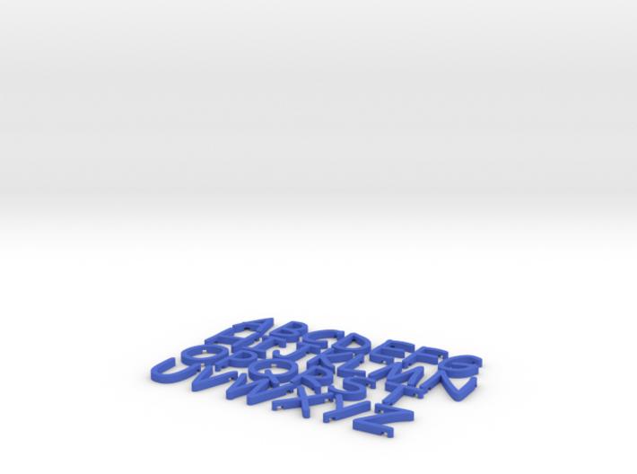 Comic Sans Alphabet Magnets 3d printed