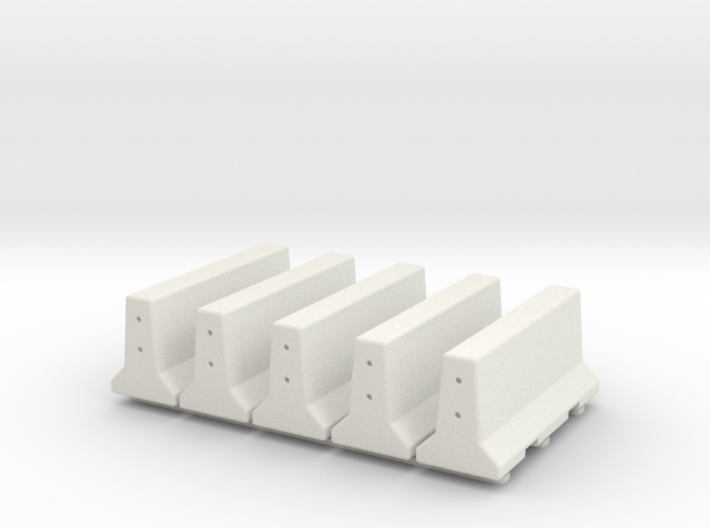 5 X 28mm Concrete Barriers 3d printed