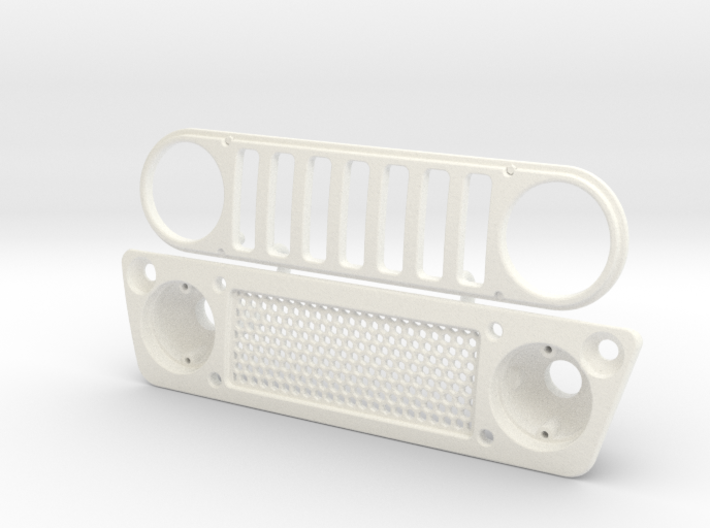 AC002 Axial Capra JK1 Grill 3d printed Part as it comes from Shapeways.