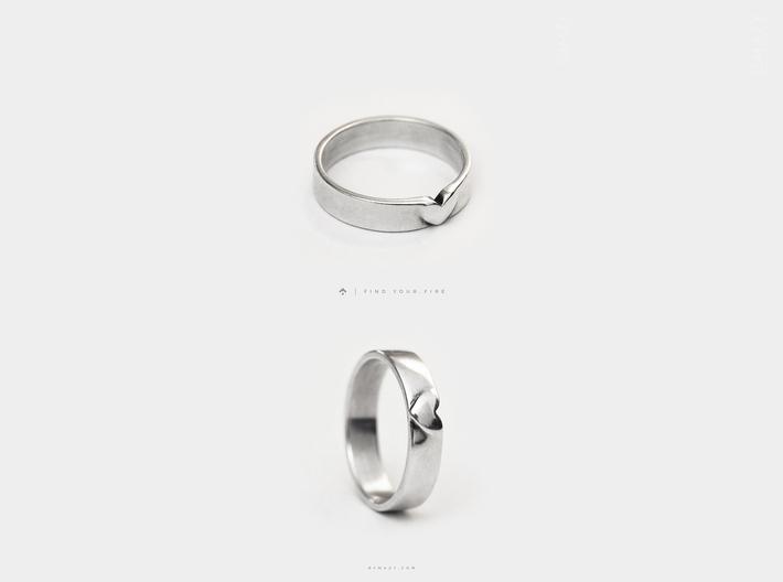 I Love You Heart Promise Ring for Women .4mm Wide  3d printed I Love You Heart Promise Ring for Women