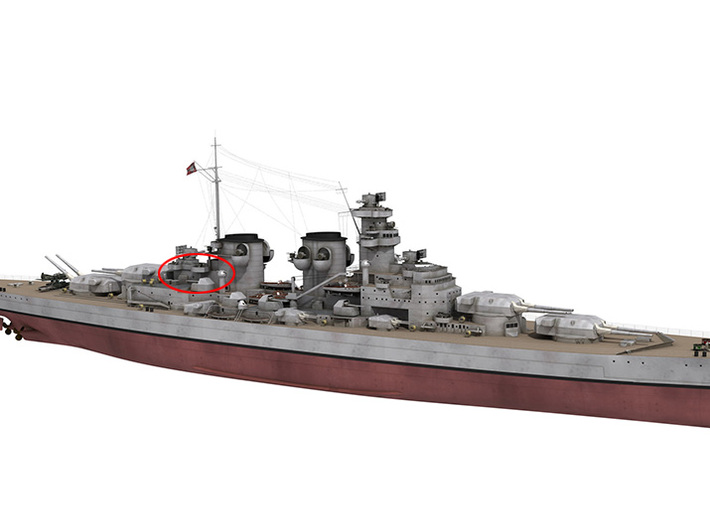 1/350 DKM H39 Superstructure 5 3d printed