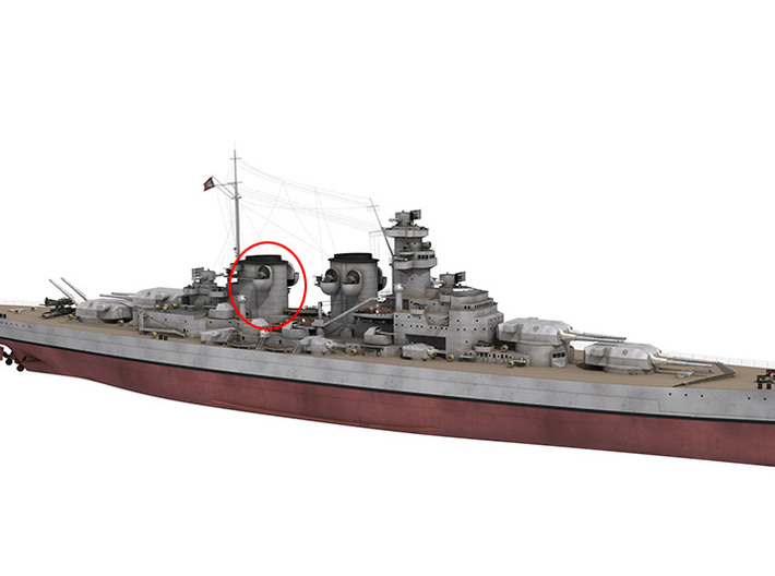 1/350 DKM H39 Superstructure 4 Funnel 2 3d printed