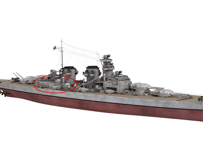1/350 DKM H39 Superstructure 1b 3d printed