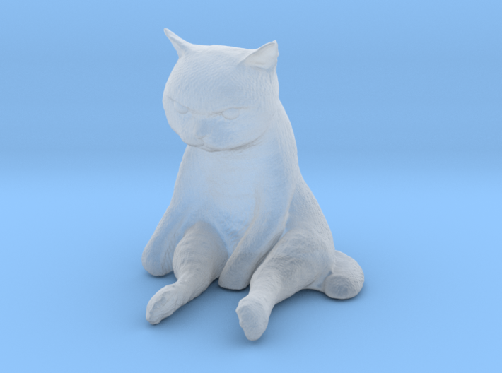 1/24 G Scale Sitting Cat 3d printed
