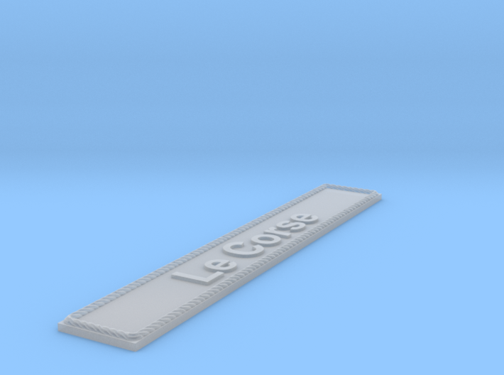 Nameplate Le Corse 3d printed
