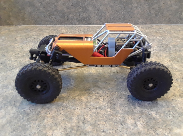 Fat Girl SCX24 with body panels and motor plate 3d printed