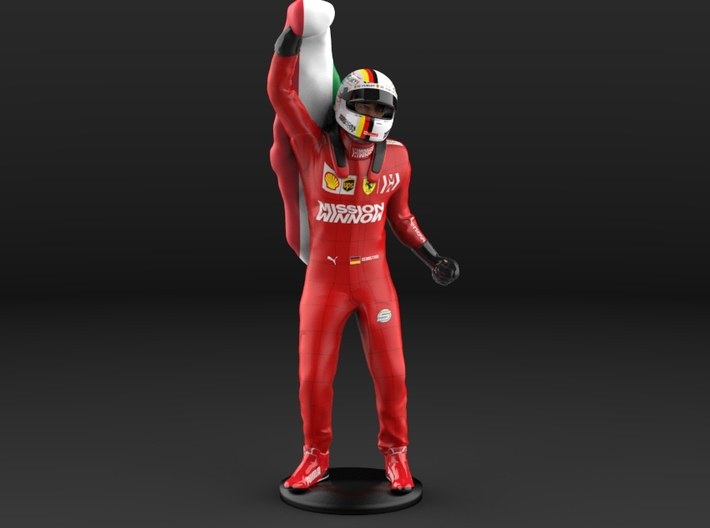 Sebastian 1/12 Celebrating Flag Figure 2019 3d printed
